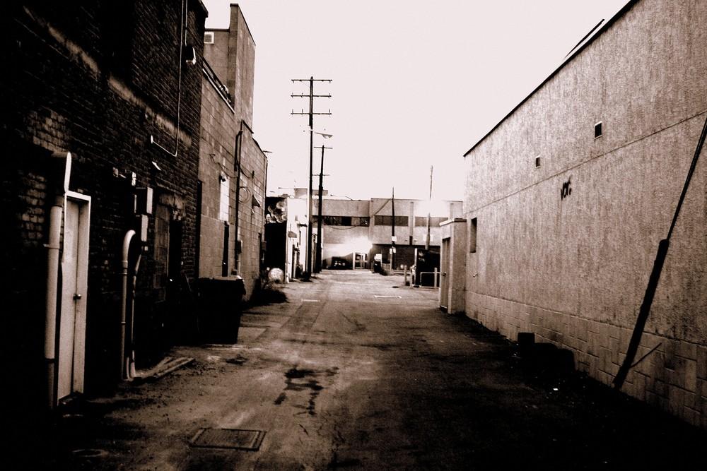 dunkle Straße in Kelowna