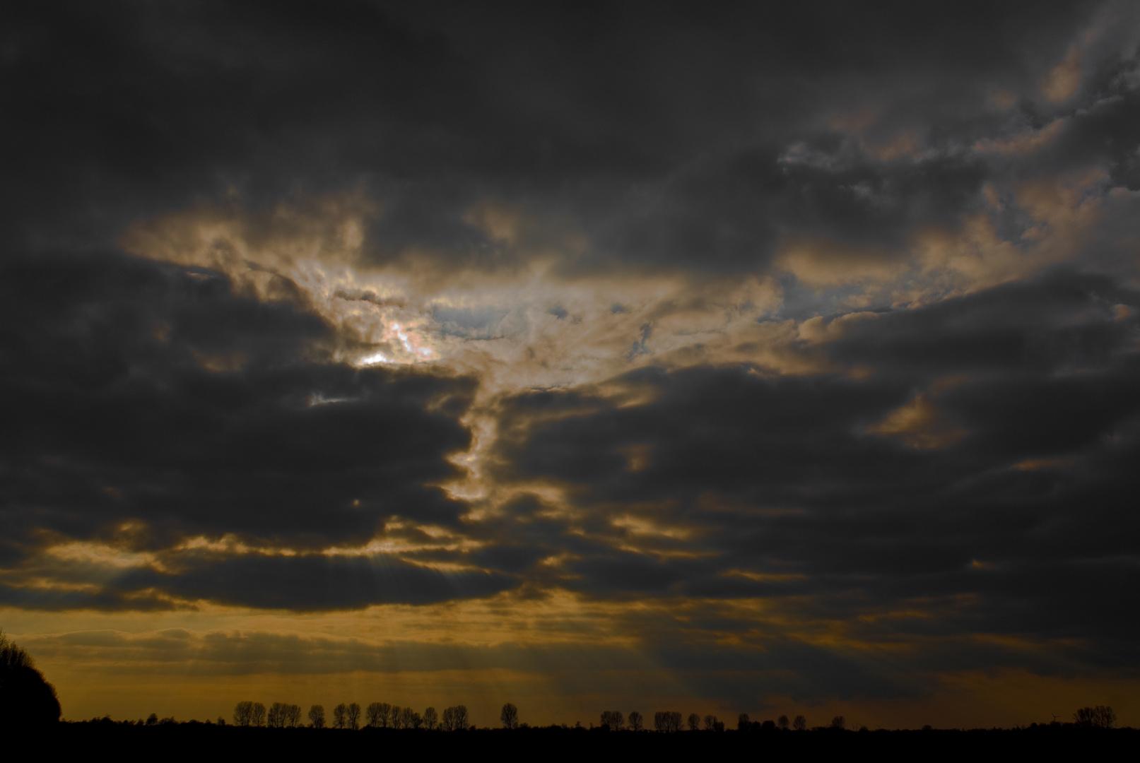 Dunkle Wolken droh´n