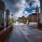 dunkle Wolken über Köln