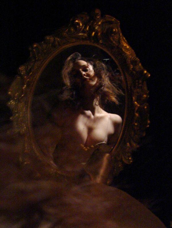 Dunkler Spiegel