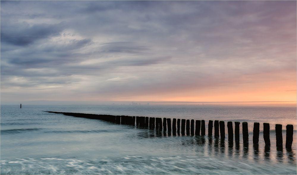Dunstige Morgenstimmung an der Nordsee
