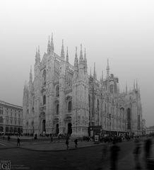 Duomo di Milano - in una mattinata piovigginosa