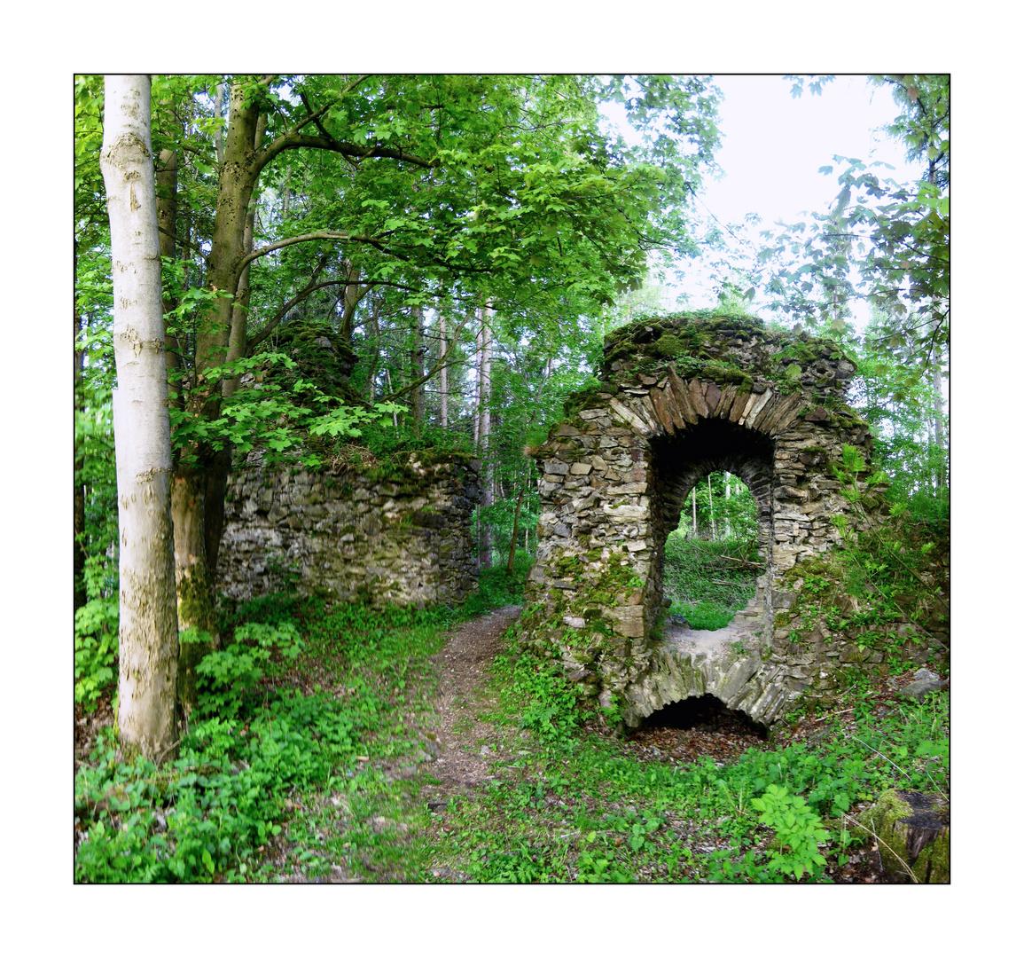 Durchblick bei der Burg Uprode