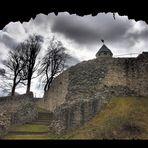 Durchblick zur Burg Lichtenberg
