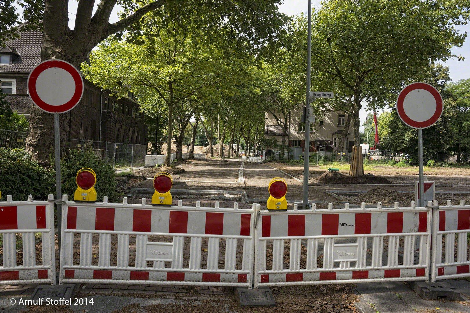 Durchfahrt Verboten - Hier entsteht ein Grüngürtel!