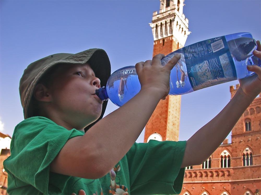 Durstig in Siena