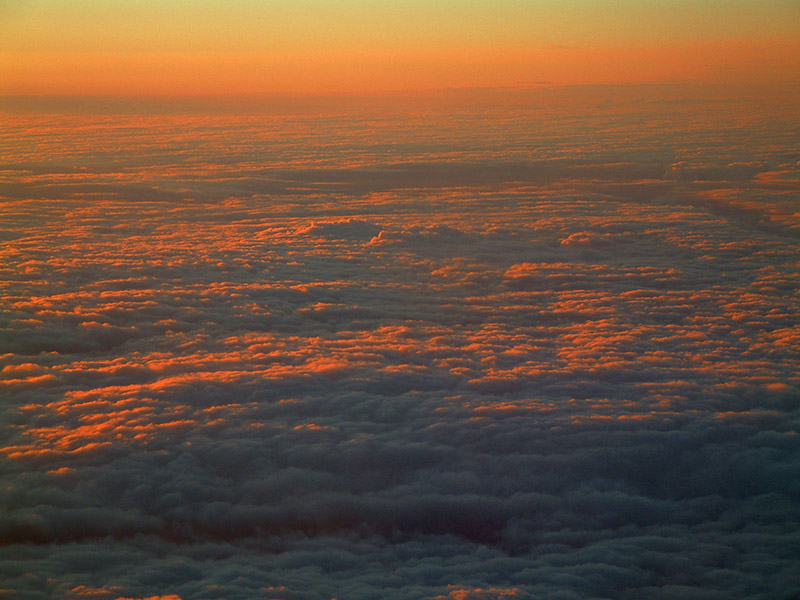 Dusk above the clouds