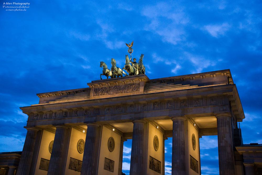 Dusk is falling over Berlin