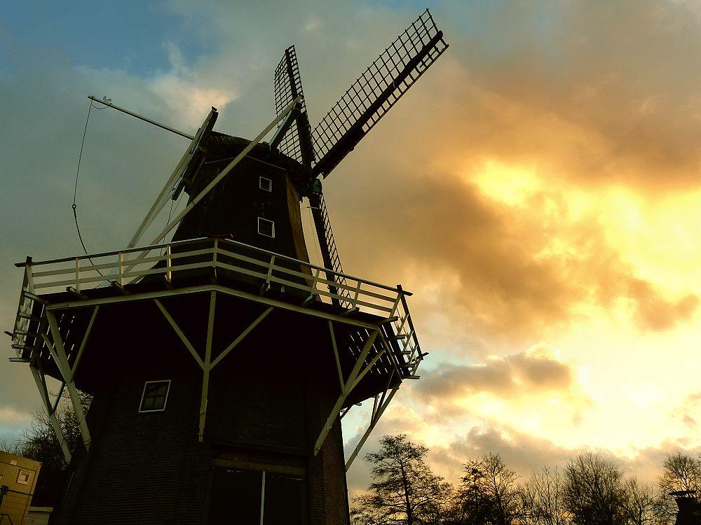 Dutch windmill in Garnwerd