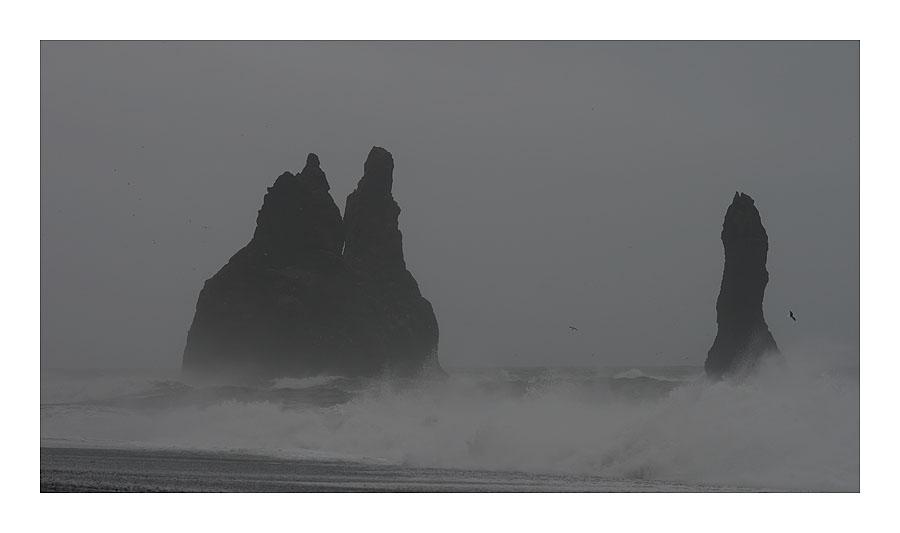 Dyrholaey bei Sturm