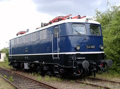 E 41 001 im Eisenbahnmuseum Koblenz - Lützel