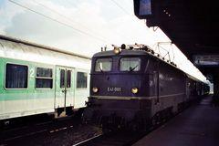 E 41 001 in Aschaffenburg Hbf (1998)
