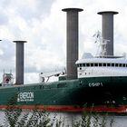 E - Ship 1 am 26.8.2018 im NOK bei Rendsburg