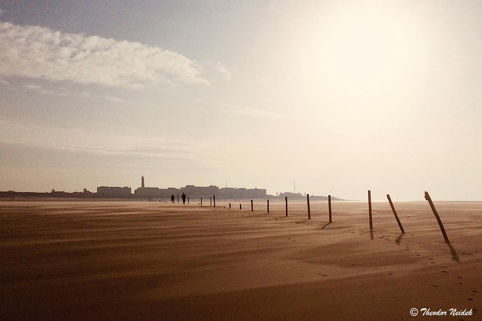 Ebbe am Strand von Borkum