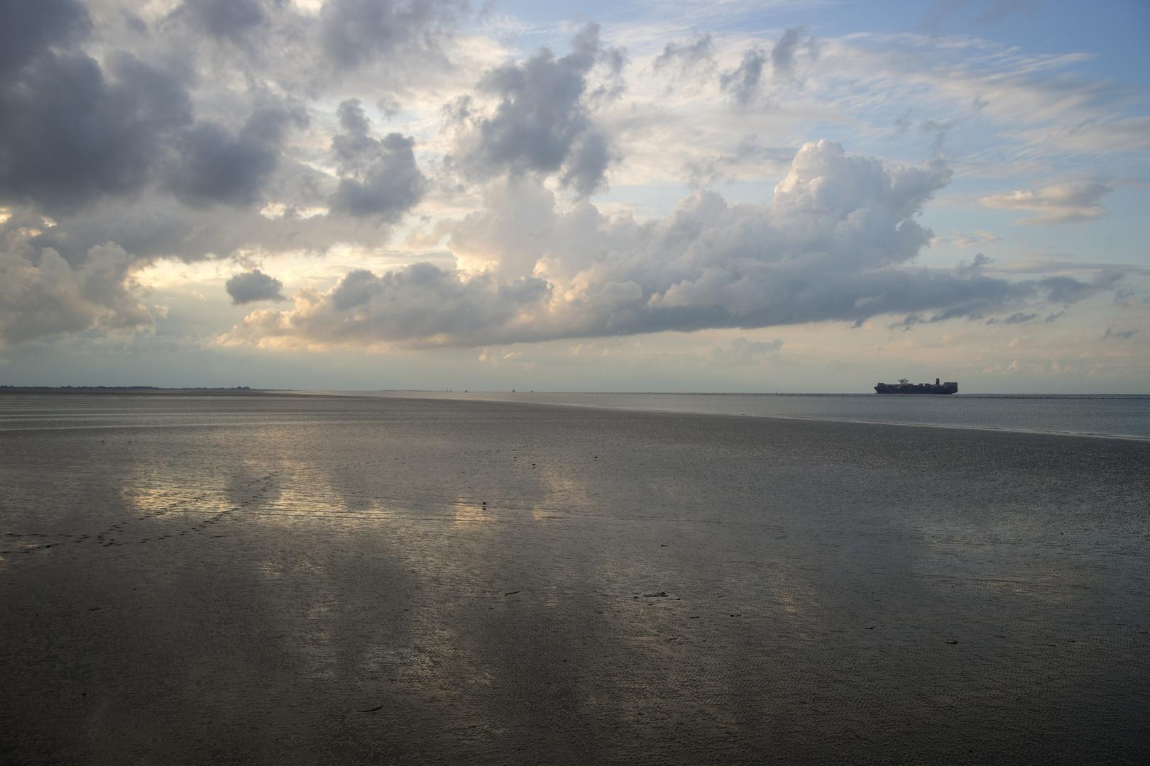 Ebbe,Watt und Meer