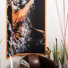 Eckbilderrahmen -  Tauchender Tiger