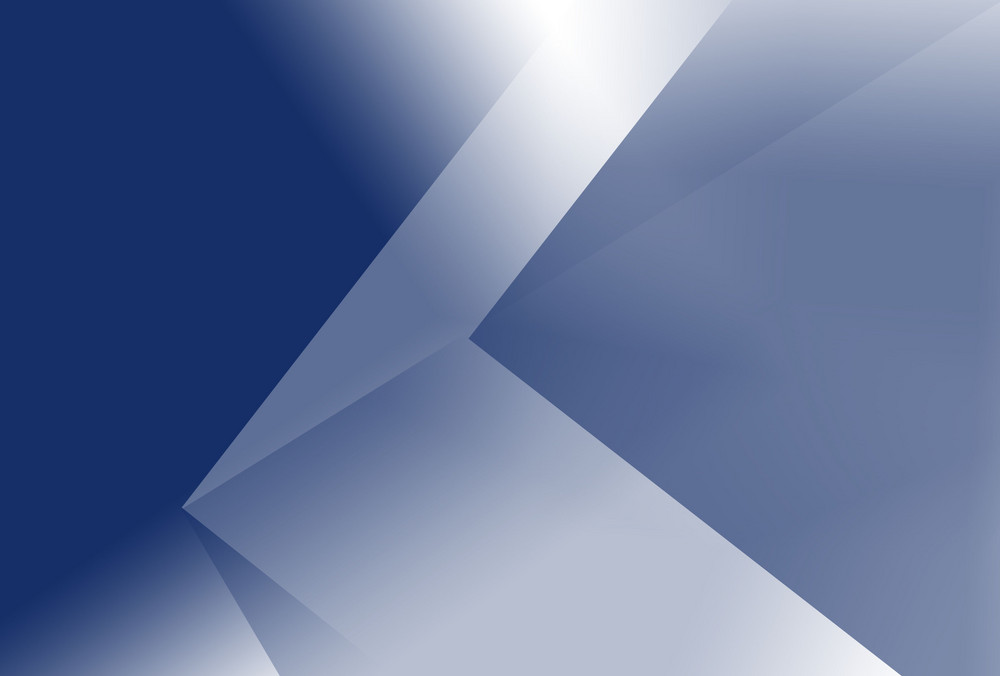 Ecken in blau