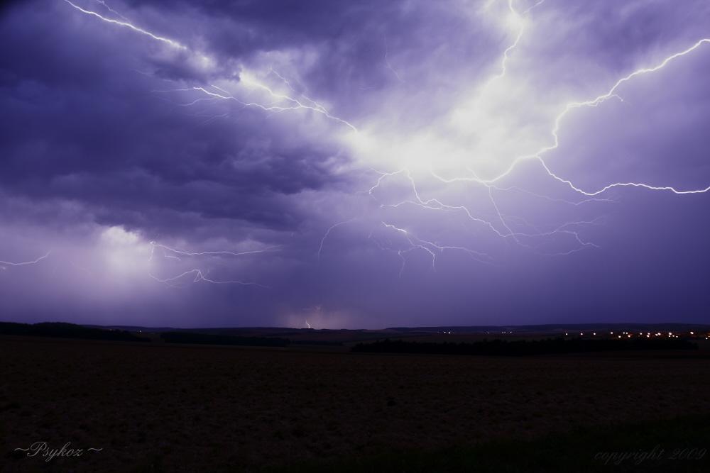 éclaires d'orage