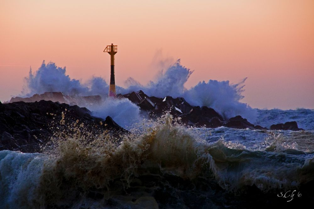 éclat de vagues