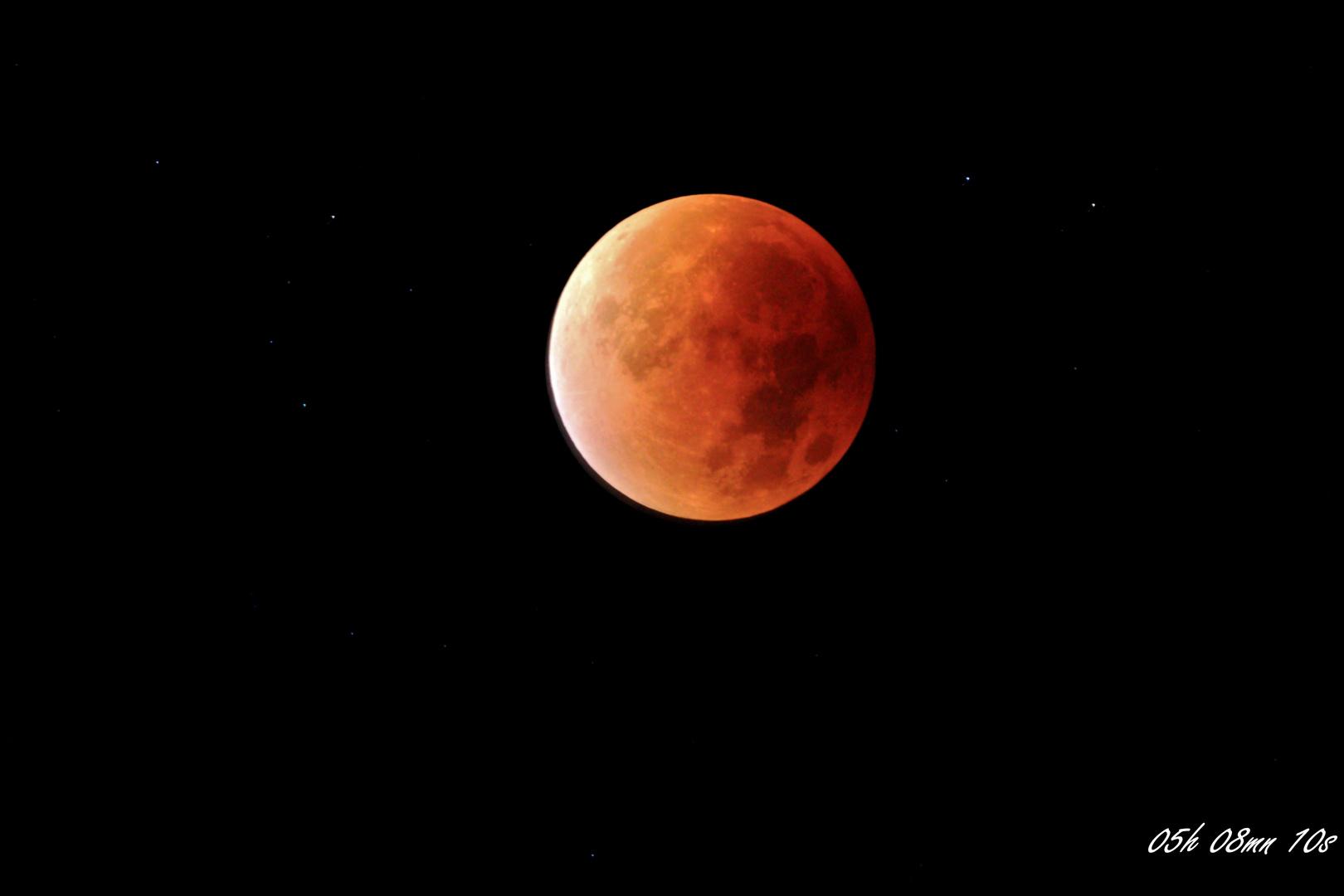 Eclipse de la lune, Septembre 2015.