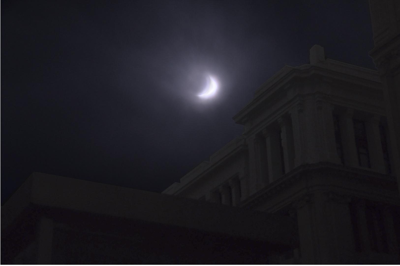 Eclipse de Sol en Madrid.