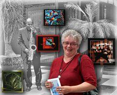 Eddas Vernissage zur 9. Internationalen Kunstausstellung....
