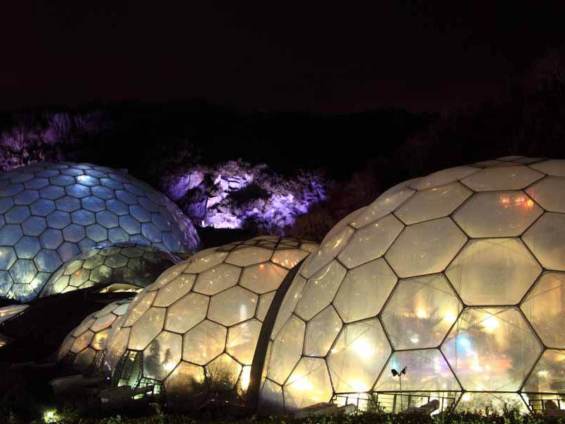 Eden Project Bio Domes At Night