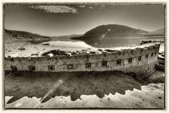 Edersee * Modell des Staudamms 1907 *