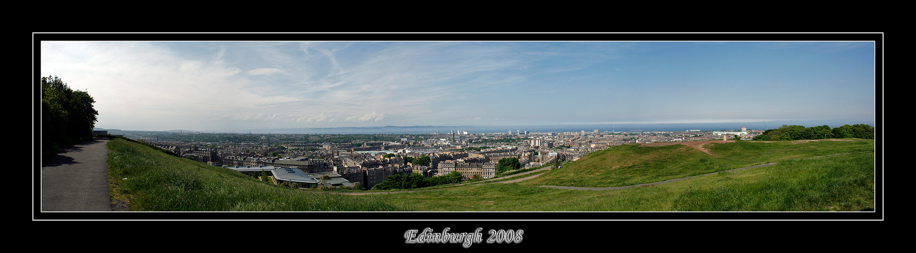 Edinburgh als Panorama