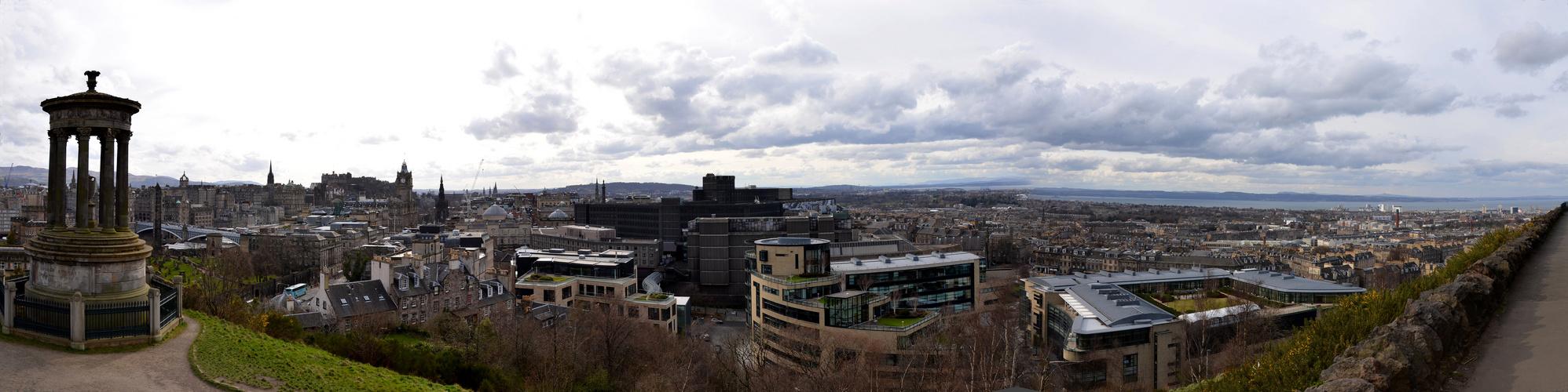 Edinburgh Blick vom Calton Hill auf die Stadt