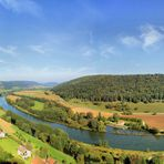 Eggersberg mit Blick auf die Altmühl Panorama