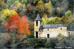 eglise et automne espagnol