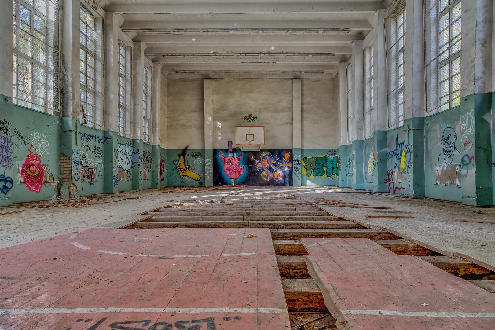 Ehemalige Sporthalle