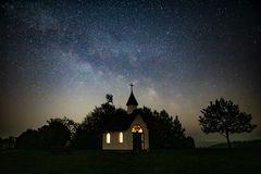 Eifelkapelle Wershofen mit etwas Milchstraße
