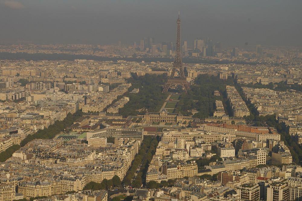 Eifelturm aus 211 Meter Höhe !!!! Stadt Paris September 2007