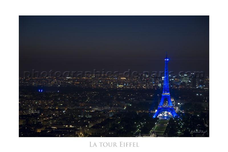 Eiffel Tower Blue