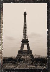 Eiffelturm in Sepia
