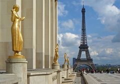 Eiffelturm vom Palais de Chaillot