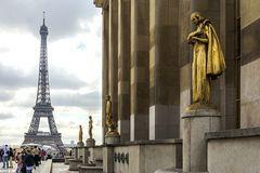 Eiffelturm vom Trocadero aus gesehen