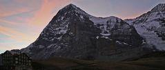 Eiger im Morgenlicht und von der berühmten Nordwand....