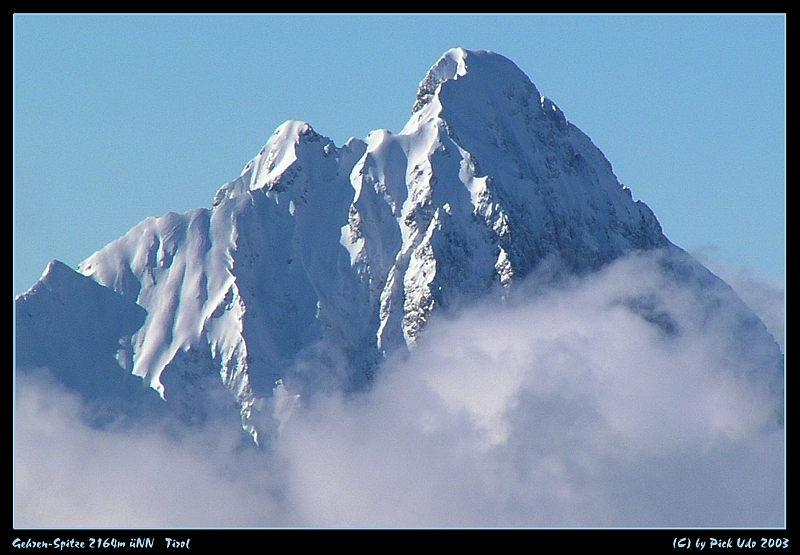 Eigernordwand ? Oder: von welchen Berg aus wurden diese Gipfel fotografiert?