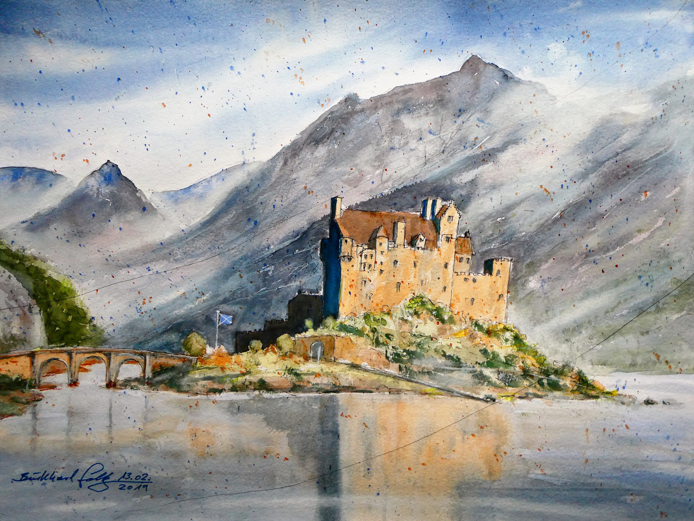 Eilean Donan Castle, Schottland in der Nähe der Isle of Skye