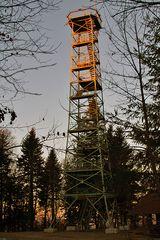Ein 33 Meter hoher Turm auf dem 1015 Meter hohem Lemberg in der Schwäbischen Alb