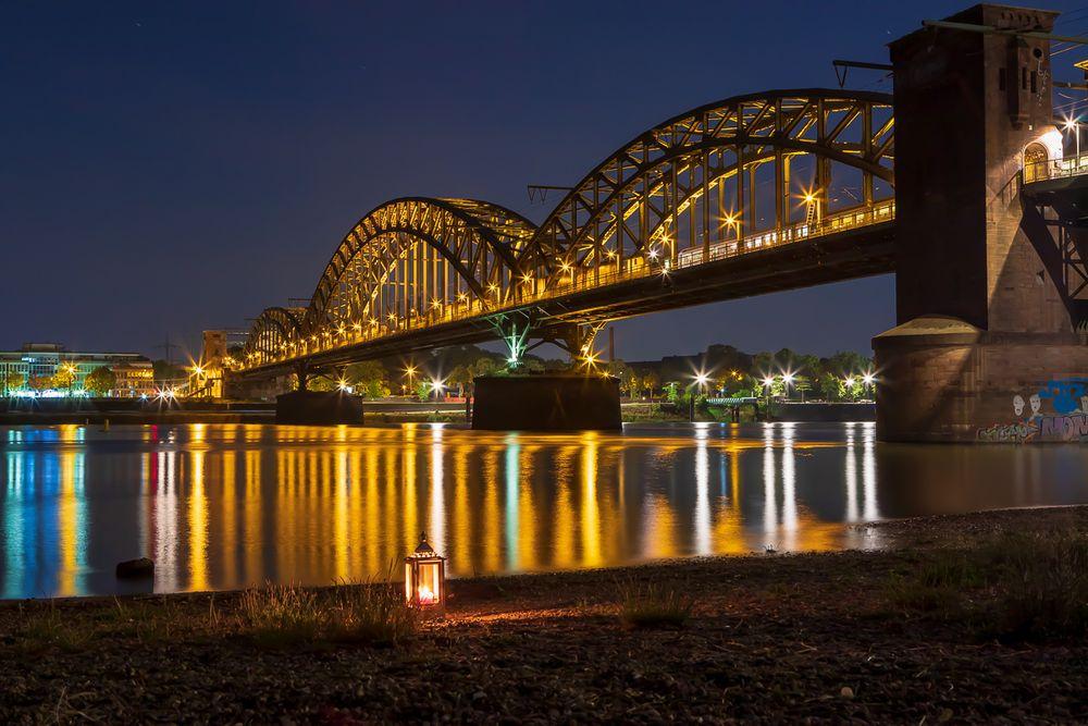 Ein Abend an der Kölner Südbrücke