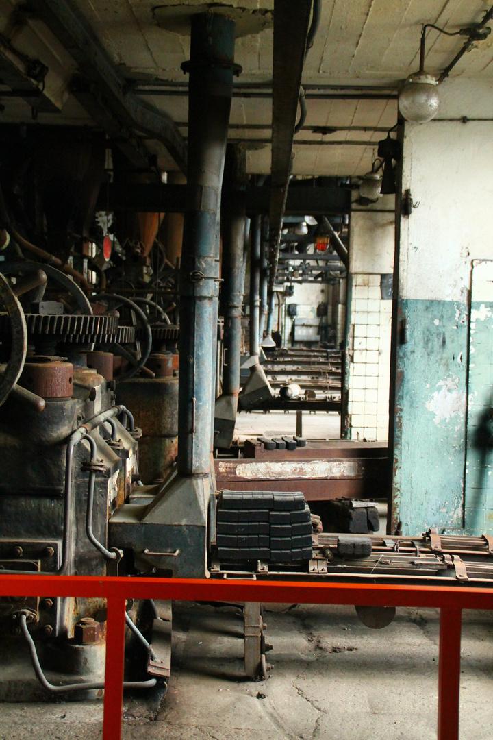 Ein alter verlassener Arbeitsplatz