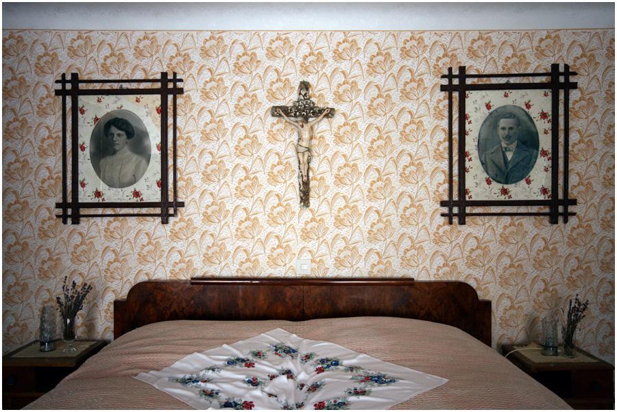 Ein altes Schlafzimmer im Weinviertel ...