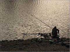 Ein Angler an der Oder ...