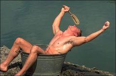 ein Bad nehmen