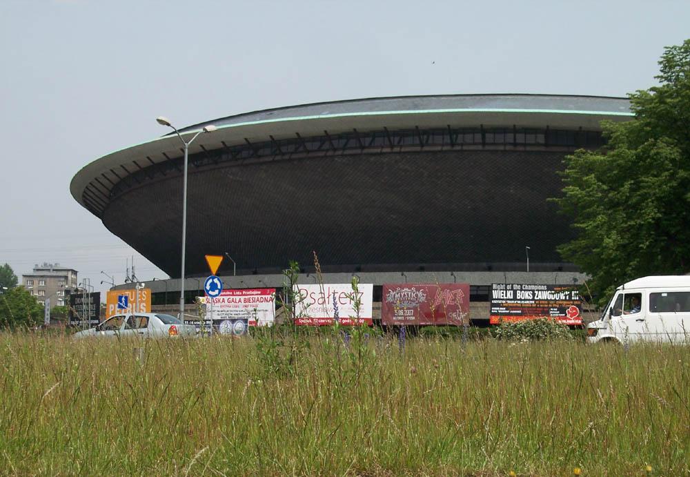 Ein bekanntes Flugobjekt: Spodek in Katowice/Kattowitz