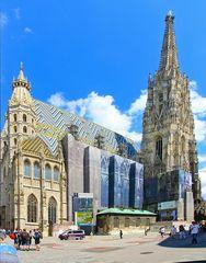 Ein bekanntes Wahrzeichen von Wien ist der Stephansdom.